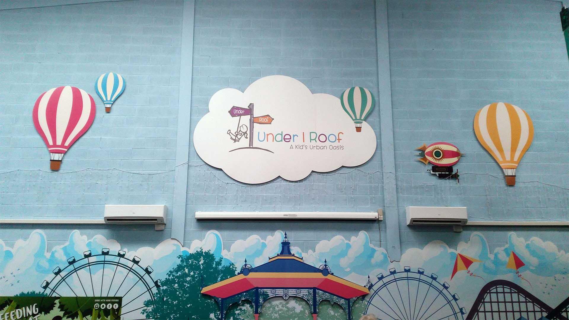 under 1 roof kids atrium logo